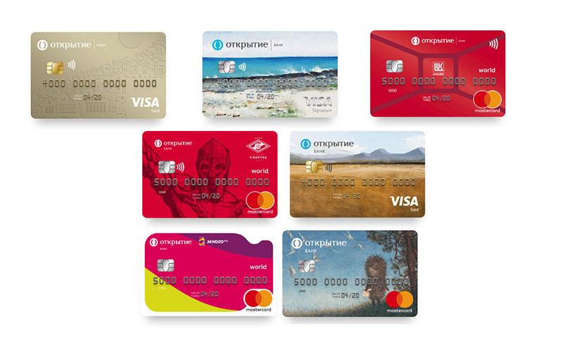 Дебетовые карты с кэшбэком от банка Открытие