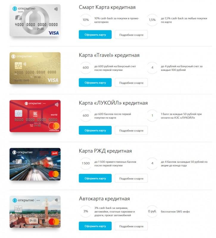 Основные достоинства кредита в банке Открытие