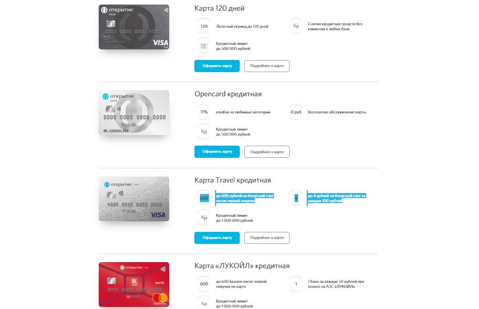 Варианты кредиток в банке